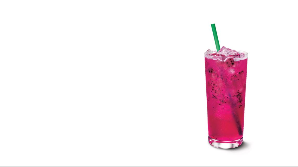 Glass of pink lemonade.