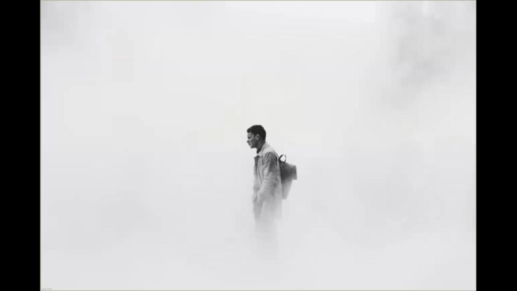 Man in fog.